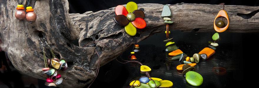 Bijoux en ivoire végétal